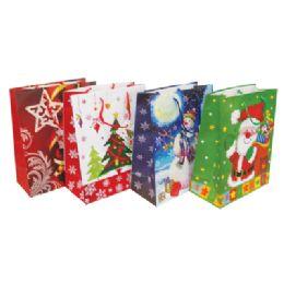 48 of Christmas Gift Bag 19.5 X 16 X 7.5 Inch Giant