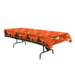 12 of Haunted House Tablecover Plastic