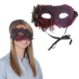 12 of Spider Mask black ribbon ties