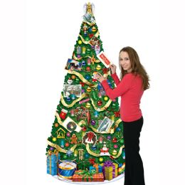 12 of Jointed Christmas Tree Slotted To Hold Greeting Cards
