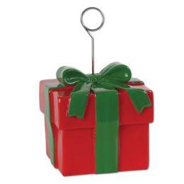 6 of Christmas Gift Box Photo/balloon Holder