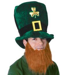 6 of Plush Leprechaun Hat W/beard One Size Fits Most
