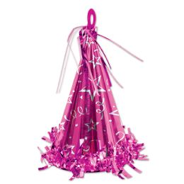 12 of Cone Hat Balloon Weight cerise