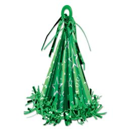 12 of Cone Hat Balloon Weight green