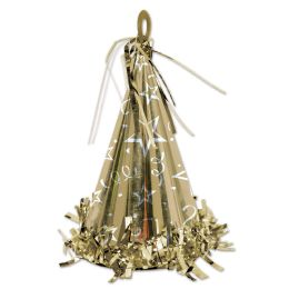 12 of Cone Hat Balloon Weight gold