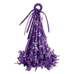 12 of Cone Hat Balloon Weight purple
