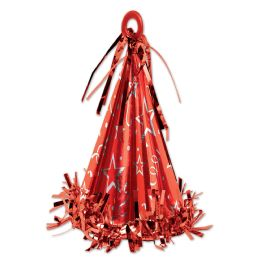 12 of Cone Hat Balloon Weight red