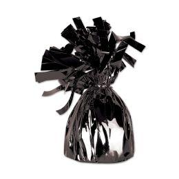 12 of Metallic Wrapped Balloon Weight Black