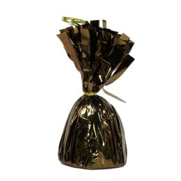12 of Metallic Wrapped Balloon Weight Chocolate Brown