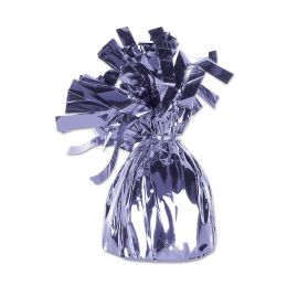12 of Metallic Wrapped Balloon Weight Lavender