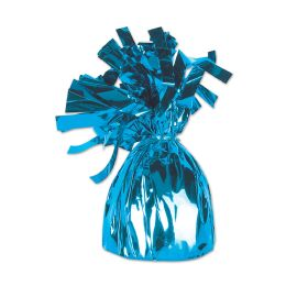 12 of Metallic Wrapped Balloon Weight Lt Blue