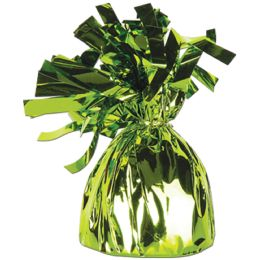 12 of Metallic Wrapped Balloon Weight Lt Green