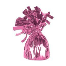 12 of Metallic Wrapped Balloon Weight Pink