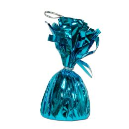 12 of Metallic Wrapped Balloon Weight Turquoise