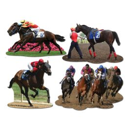 12 of Horse Racing Cutouts prtd 2 sides