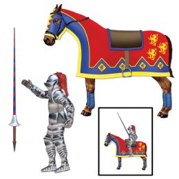 12 of Jointed Jouster Horse & Lance Cutouts Included