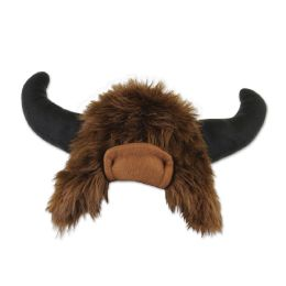 6 of Plush Buffalo Hat one size fits most; no retail packaging