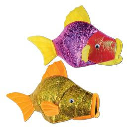 6 of Fish Hats asstd colors; one size fits most