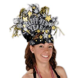 12 of Glittered New Year Headdress One Size Fits Most
