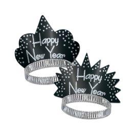50 of Sparkling Silver Tiaras black & silver