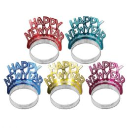 50 of Happy New Year Tiaras asstd colors