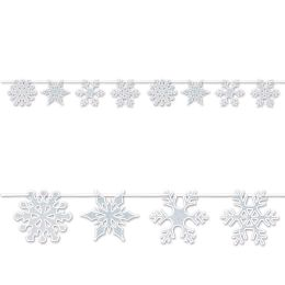 12 of Snowflake Streamer glitter print; assembly required