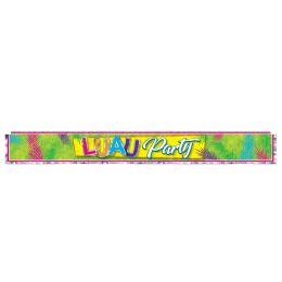 12 of Metallic Luau Party Fringe Banner prtd 1-ply PVC fringe
