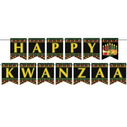 12 of Happy Kwanzaa Streamer assembly required