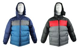 12 of Kid's Winter Bubble Ski Jackets W/ Detachable Hood - Sizes 8-20 - Choose Your Color(s)