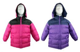 12 of Kid's Winter Bubble Ski Jackets W/ Detachable Hood - Sizes 7-16 - Choose Your Color(s)