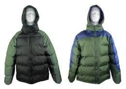 12 of Men's Winter Bubble Ski Jackets W/ Detachable Hood - Choose Your Color(s)