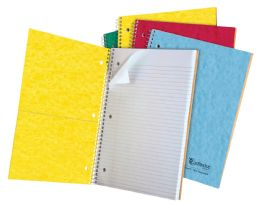 """24 of Tops Earthwise 1 Subject Notebook, College Rule, 11"""" X 8 7/8"""", Assorted Covers, White, 100 Sheets"""