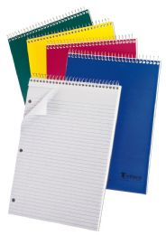 "48 of Tops Earthwise 1 Subject Top Open Notebook, 11 3/4"" X 8 1/2"", Assorted Colors, College Ruled, 80 Sheets"