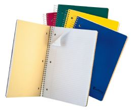 """24 of Tops Earthwise 3 Subject Notebook, College Rule, 11"""" X 8 1/2"""", Assorted Covers, White, 150 Sheets"""