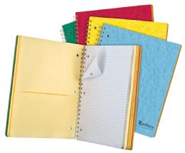 """20 of Tops Earthwise By Oxford 5 Subject Notebook, 11"""" X 8 7/8"""", 200 Sheets, College Ruled, Assorted Colors"""
