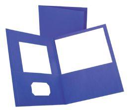 125 of Tops Leatherette Two Pocket Portfolio, Purple, 25 Pack