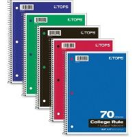Tops OnE-Subject Wirebound Notebook