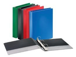"""12 of Cardinal Performer NoN-Locking Round Ring Binder, 1.5"""" Assorted Colors"""