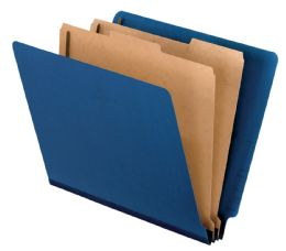 "5 of Classification Folder - End Tab, 2 Divider, 2"" Bonded, Ltr, Dark Blue, 10/bx"