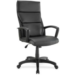 Lorell Euro Design Lthr Executive HigH-Back Chair