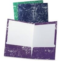 5 of Tops Oxford Marble Laminated Twin Pocket Folders