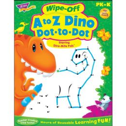 132 of Trend A To Z Dino Dot To Dot WipE-Off Book Learning Printed Book