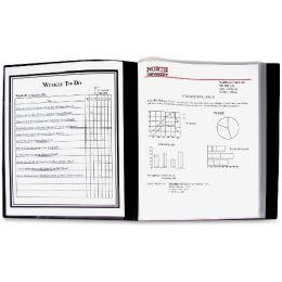 C-Line 24-Pocket Bound Sheet Protector Presentation Book, Black, 33240