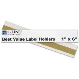 12 of C-Line Value Peel And Stick Shelf/bin Label Holder