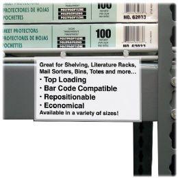 12 of C-Line Value Peel/stick Shelf Label Holders