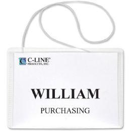 C-Line Hanging Style Name Badge Holder