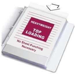 C-Line Heavyweight Polypropylene Sheet Protector, Clear, 11 X 8 1/2, 100/bx