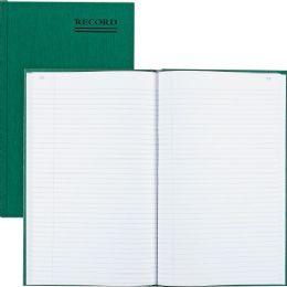 Rediform Green Bookcloth Margin Record Book