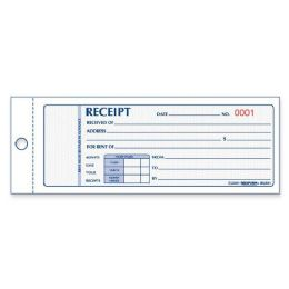 80 of Rediform Rent Receipt Book