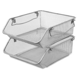 75 of Lorell Mesh Stacking Storage Bin